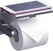 RUSH Edge Держатель туалетной бумаги с полкой , хром