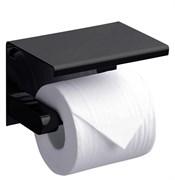 RUSH Edge Держатель туалетной бумаги с полкой , черный