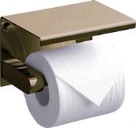 RUSH Edge Держатель туалетной бумаги с полкой , светлая бронза