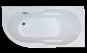 ROYAL BATH Azur 148х79 Акриловая ванна асимметричная, правая