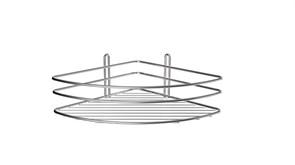 FIXSEN Полка угловая одноэтажная, ширина 20 см, цвет никель-хром
