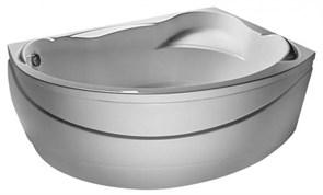 1MARKA Catania Ванна асимметричная, с рамой и панелью, белая, 150х95, правая