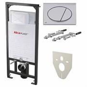 ALCA PLAST Система инсталляции для унитазов, A101/1200, M71, M91: , инсталляция, кнопка хром, звукоизол. плита, крепления