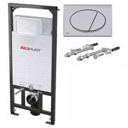 ALCA PLAST Комплект для подвесного унитаза:, исталляция, кнопка хром, крепления