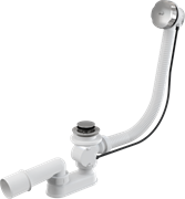 ALCA PLAST Сифон для ванны, полуавтомат, комплект, металл/металл