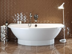 AquaStone Мальта Ванна из литьевого мрамора, размеры - 190х96 см, высота - 57 см, глубина - 45 см
