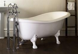 AquaStone Скарлет Ванна из литьевого мрамора, размер - 170х80 см, высота - 74 см, глубина - 53 см, на ножках (белые)