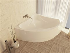 AquaStone Флорида Ванна из литьевого мрамора, размер 135х135 см, высота - 60 см, глубина - 46 см (с экраном)