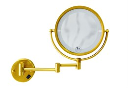 BOHEME Imperiale Зеркало настенное, с подсветкой, двустороннее, 3-кратное увеличение, золото