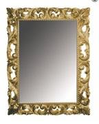 BOHEME Зеркало прямоугольное, антик, 97х70, массив дерева