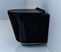 ESBANO EBRO Безободковый подвесной унитаз, сиденье ультратонкое, быстросьемное с микролифтом, 480x365x360, цвет черный