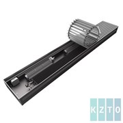 Конвектор с вентиляторами водяной внутрипольный KZTO Бриз В с решеткой L-2000 мм